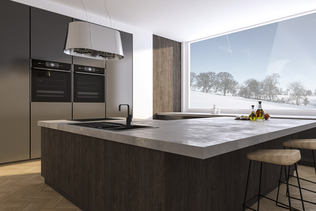 Piani cucina in cemento gfrc | Cemento Line