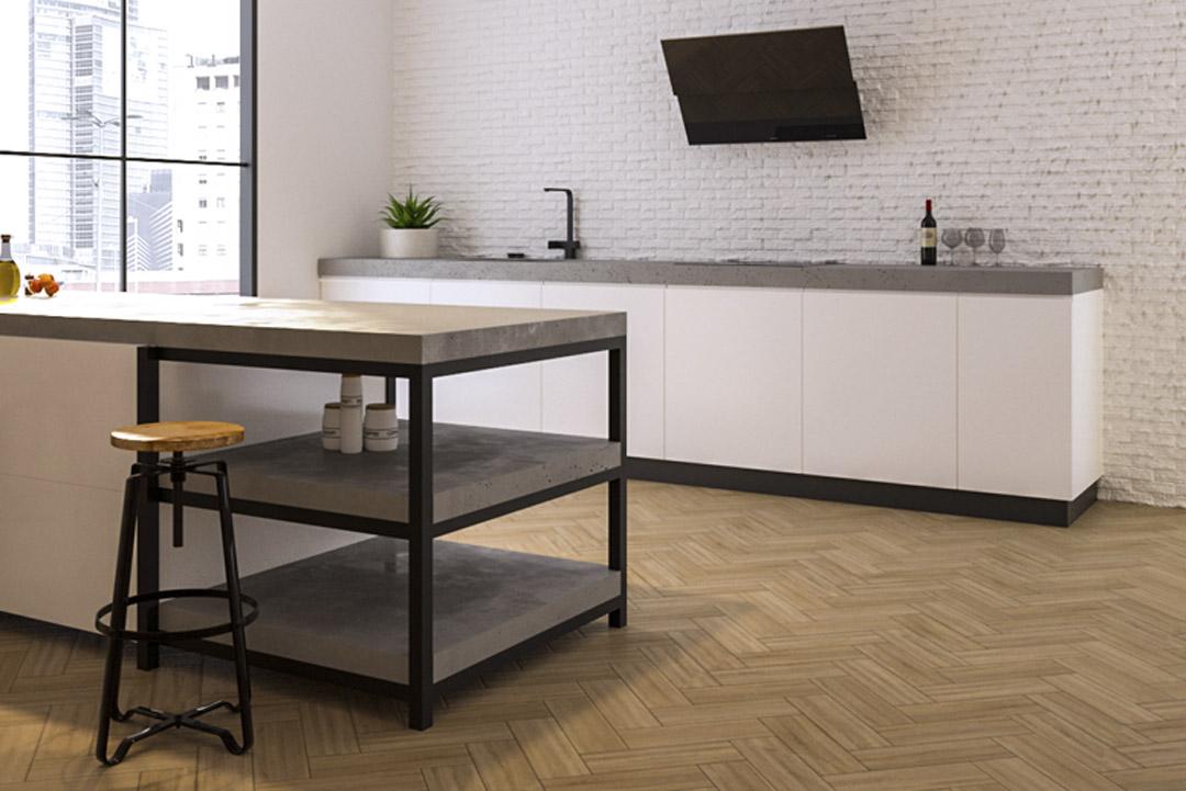 Piano cucina moderna in cemento | Cemento Line